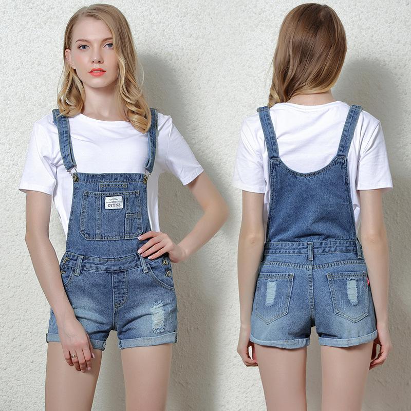 99f43d5d8cfc 2019 Wholesale 2017 Women Overalls Combinaison Short Femme Playsuits  Fashion Short Jumpsuit Denim Shorts Jumpsuit Denim Overalls Women P3599  From Maoku