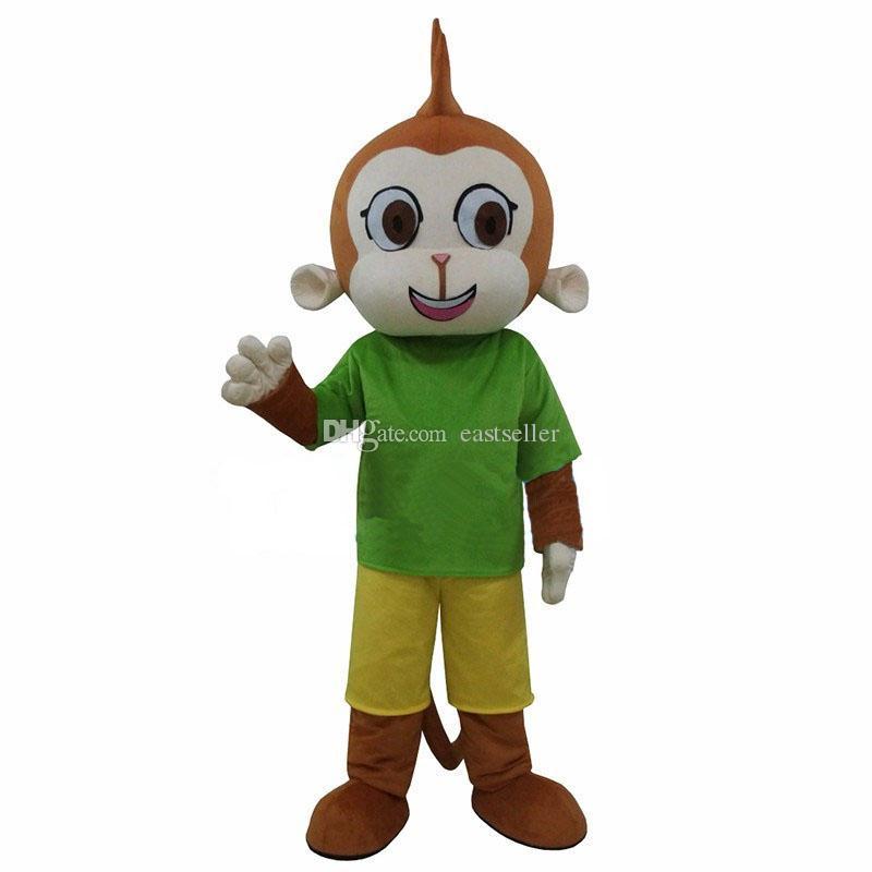 Il vestito operato dal costume della mascotte della scimmia di verde di alta qualità calda di vendita libera il trasporto