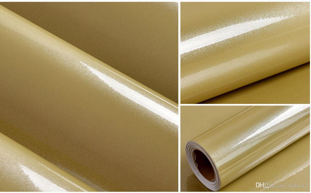 Gold Color Paint Diy Wallpaper Pearl Furniture Renovation Stickers  # Muebles Farbton