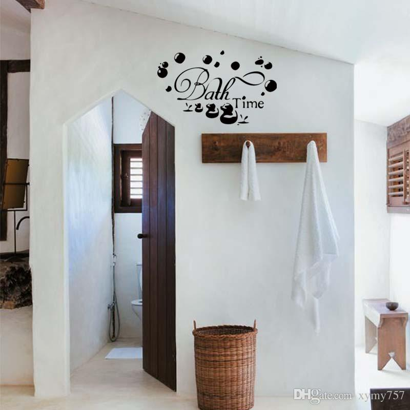 Bath Time Ducks Soak Relax Quote Wall Personality Funny Stickers Art Bathroom Removable Decals Decorate Graphics Diy