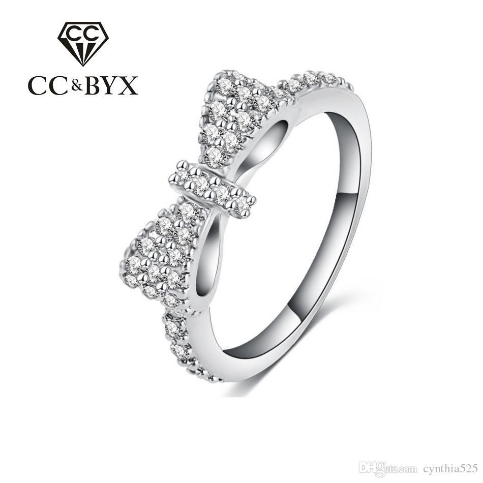2018 Cc Vintgae Bowknot Ring Cut Butterfly Rings For Women Midi ...