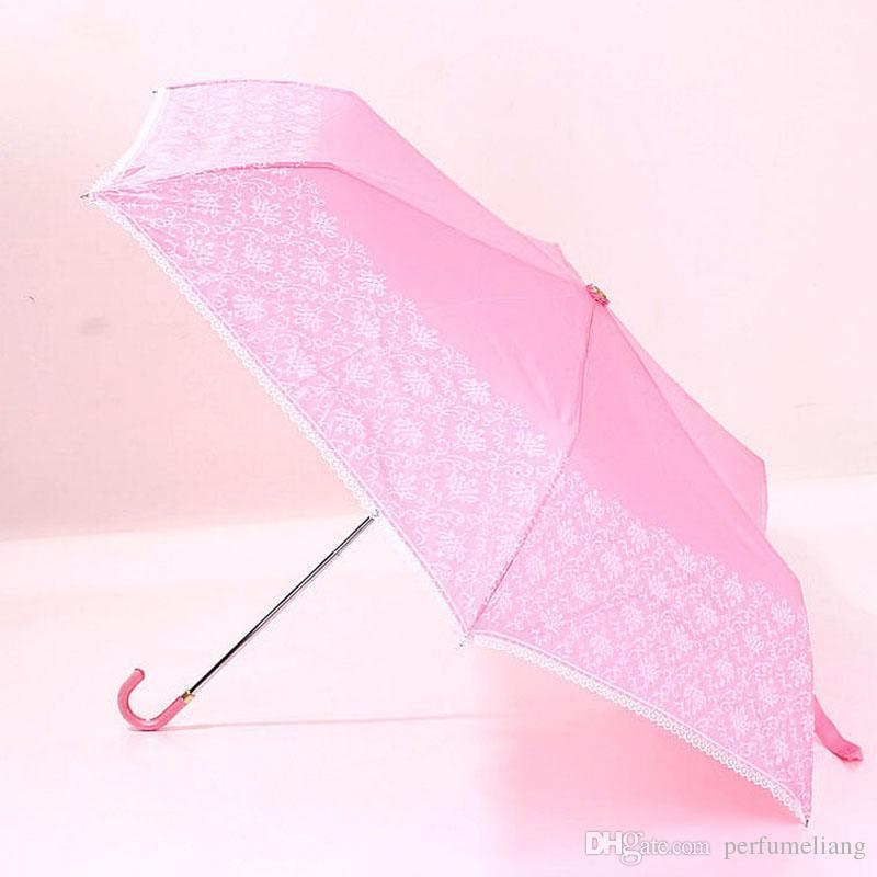 Moda Kadınlar Beyaz Siyah Dantel Şemsiye Flared Kolu Guarda Chuva Şemsiye Güneşlik Yağmur Düğün Gelin Şemsiye ZA3285