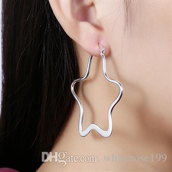 Vente en gros - Boucles d'oreilles fantaisie en argent Sterling 925 avec cadeau de Noël