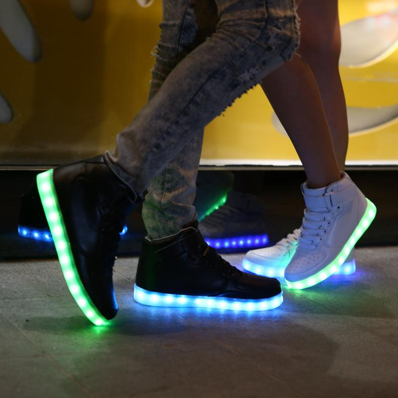 outlet fashion Style Usb Charger Led Couple Flashing Lights Shoes With Lights led wearing sneakers shoes for women light up led shoe free shipping cheapest price outlet 2014 unisex original nEKhYUVB