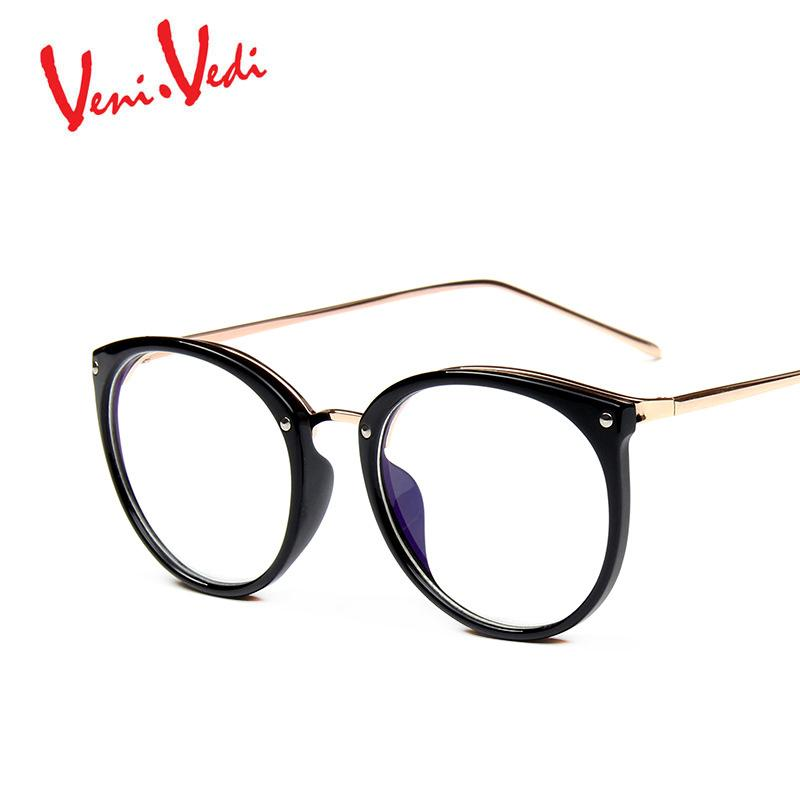 637c7790b7a 2019 Wholesale VENI VEDI Women S Optical Glasses Frame Eyeglass Oculos De  Grau Eyewear Metal Full Frame Vintage Printing Feminino From Fragmentt