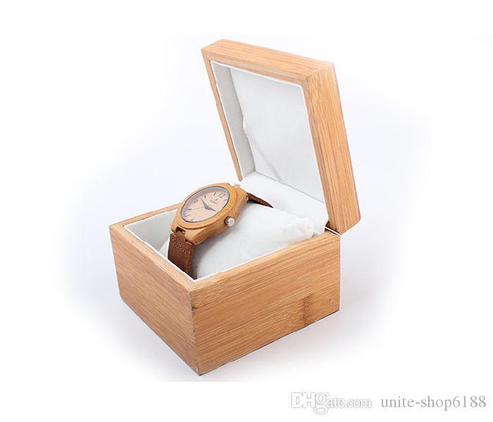 Натурального бамбука флип часы высокое-ранг коробка подарка вахты упаковывая бамбук часы