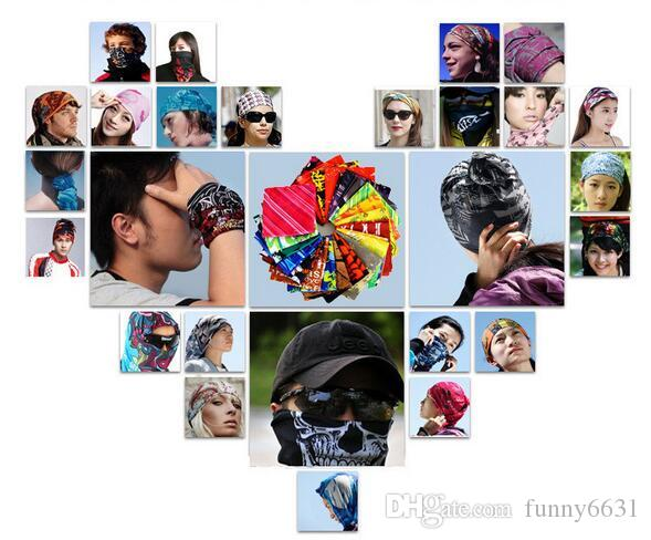 Christmas unisex Halloween Cosplay Bicycle Ski Skull Half Face Mask Ghost Scarf Bandana Neck Warmer Party headband Magic Turban balaclava