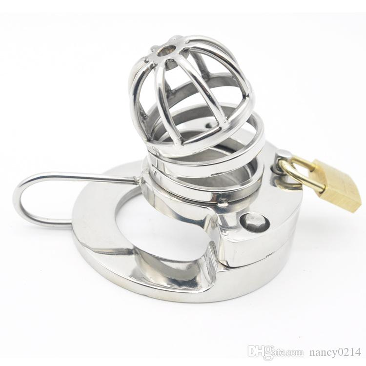 Male Chastity Cage 316L Stainless Steel Cock Lock with Soft Urethral Sound Catheter Male Bondage Dick Cage CBT Sex Toy for Man G212