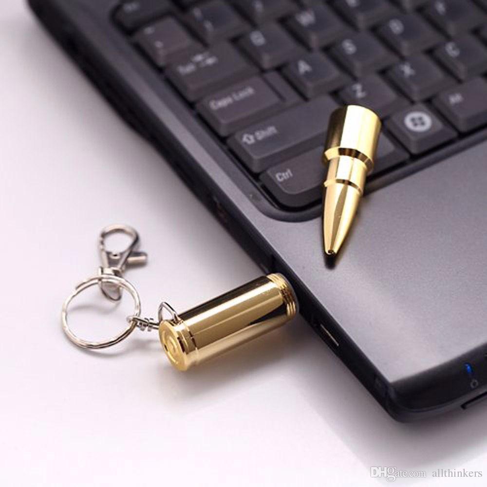 Fress gratuite 8 GB 16 GB 32 GB USB Flash Drive Flash Mémoire Pen Drive USB 2.0 Flash Drives Memory Sticks Pendrive Or Argent balle U Disque