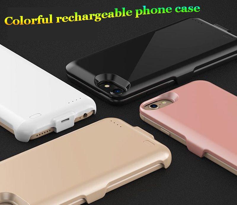 Novo tipo de poder banco de potência tampa traseira 4000mAh carregador de bateria de telefone celular caso carregador de telefone sem fio externo shell para iPhone 6 6 plus 6 S