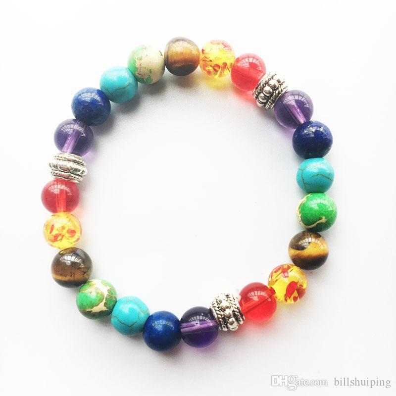 Смешанные стили мода натуральный камень круглые формы пряди нитей бусины лава очарование браслеты ювелирные изделия для женщин мужчины