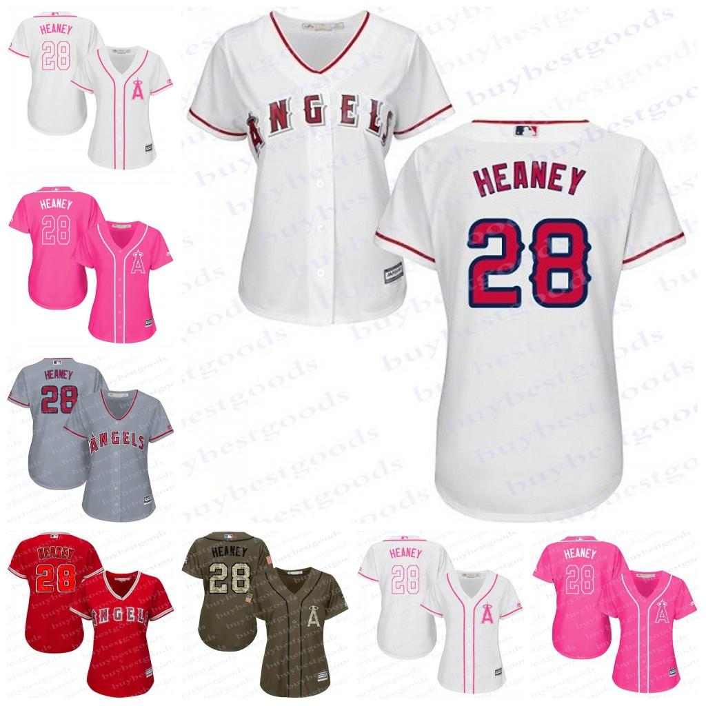 d1a616faf ... canada 2017 2017 womens los angeles angels of anaheim 28 andrew heaney  baseball jerseys ladies shirt