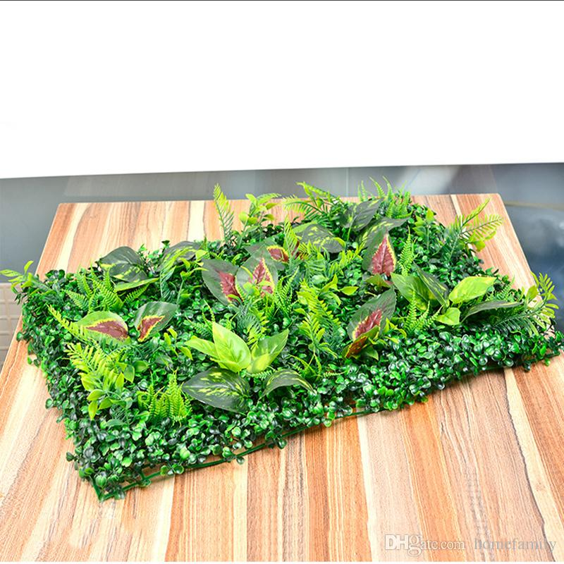 Artificial Plastic Grass Lawn 40*60cm Fairy Garden Miniature Gnome Moss Terrarium Decor Resin Crafts Bonsai Home Decor Milan Mixed Lawn
