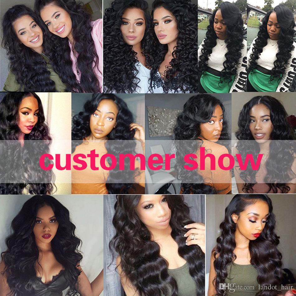Brazilian Loose Wave Virgin Human Hair Weave 3 Bundles Unprocessed Brazilian Peruvian Malaysian Indian Mongolian Loose Curly Hair Extensions