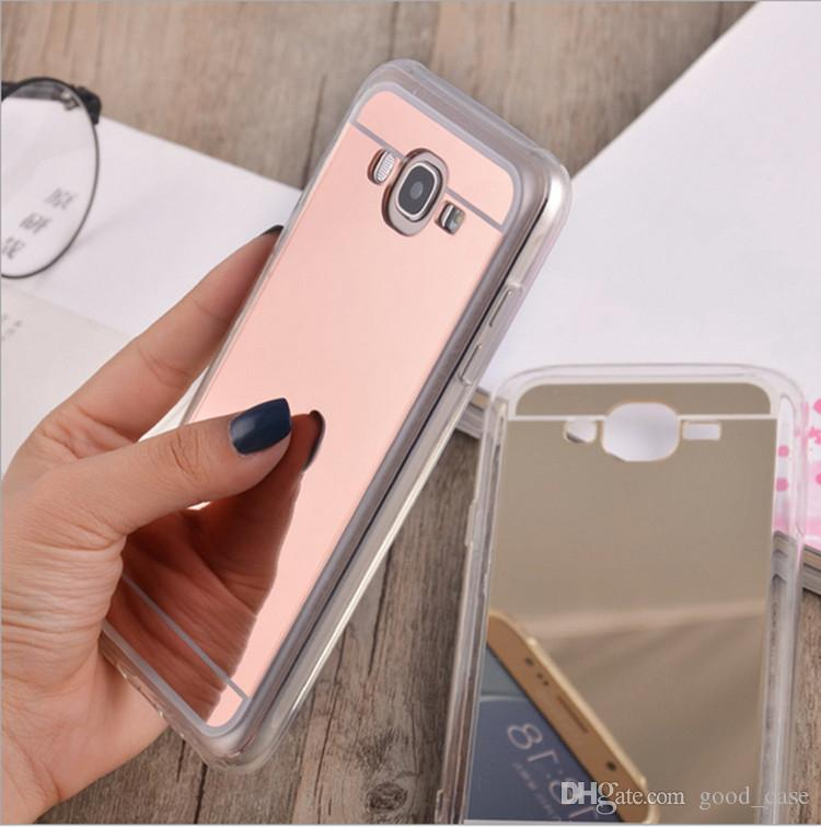 new concept 26ff2 42f69 Samsung J7 clear case Ultrathin mirror case Electroplated glasses TPU  Cosmetic Cases cover for Samsung galaxy J2 J3 J5 J7 prime J3 pro