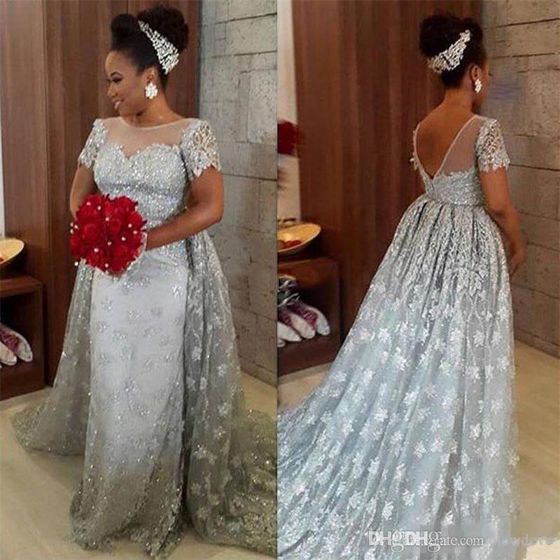 d32ef5c0cc7 Milla Nova Latest Wedding Dresses Sheer Neck Lace 3D Floral Appliques Cap  Sleeve Illusion Bodice Bridal Gowns Backless Mermaid Wedding Dress