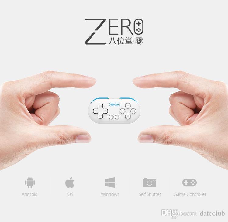 Orijinal 8 SIFIR 8 bitdo Ultra-taşınabilir mini gamepad iphone ios windows MAC için kablosuz Bluetooth denetleyici VR gözlük vr kutusu