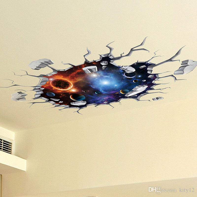 Hot Sale New 3D Wall Stickers floor stickers universal wallpaper for home decoration kid's living room