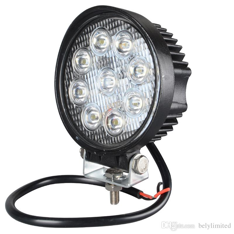 4 Inch 27W LED Work Light for Indicators Motorcycle Driving Offroad Boat Car Tractor Truck 4x4 SUV ATV 12V