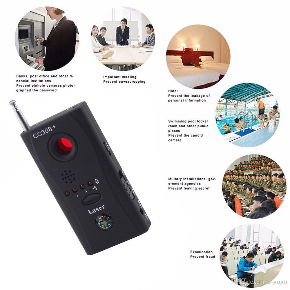 CC308 + Kablosuz Kamera Lens Dedektörü Radyo Dalga Sinyal Tespit Kamera Tam menzilli WiFi RF Singnal Bug Lazer GSM Cihaz Bulucu