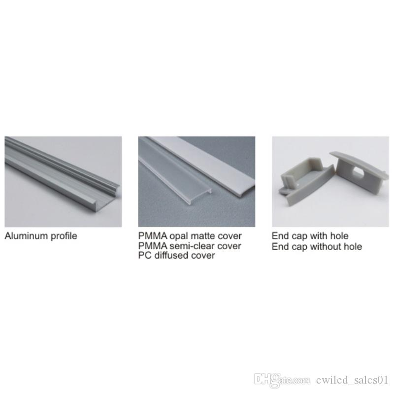 10 X 1M setsAl6063 T type aluminum extrusion for led strip lights and aluminium channel profiles for ceiling or wall lamps