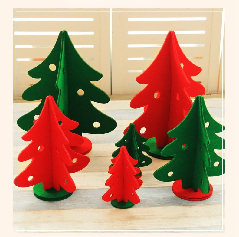 mini christmas tree festival decorations non woven window ornaments hotel shopping malls decoration desktop small christmas trees mini christmas tree