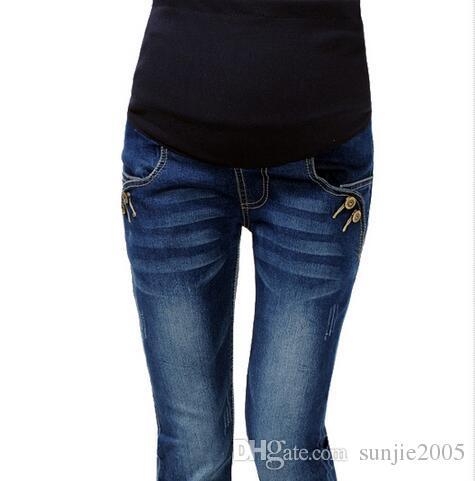 c0f9612b78 Denim Maternity Jeans Pants For Pregnant Women Plus Size XXL Clothes ...