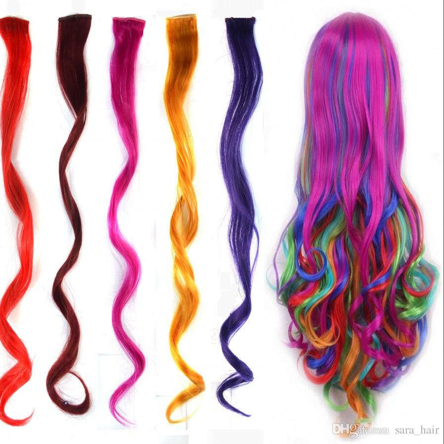 Sara Sexy Ombre Color Hair Clips Kinky Curly Clip In Hair Extension