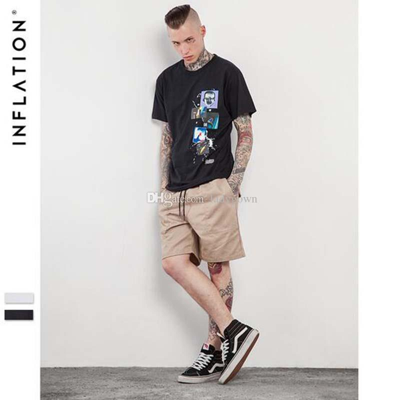 Inflation summer new style men 39 s t shirt design graphics for Urban streetwear t shirts