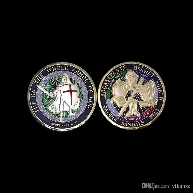 / Ponte toda la armadura de Dios UNITED STATES MARINE CORPS Armor of God Reza Always Military Challenge Coin 6 diseños