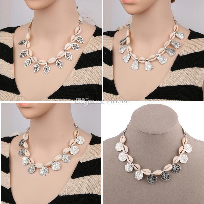 0973c116be90 2017 Más Nuevo Verano Estilo de Playa Shell Gargantillas Collar Mujeres  Moda Conchas Simples Collar Collares Multiusos pueden hacer pulsera