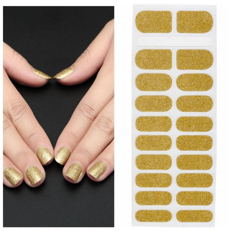 Xt Xt Nail Polish Strips Golden Waterproof Non Toxic Art