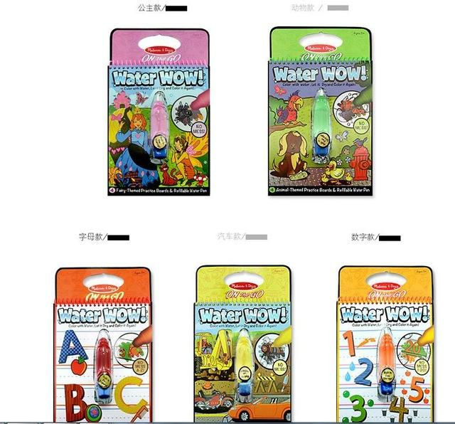 New Coloring Book : New arrives coloring book for kids magic water drawing