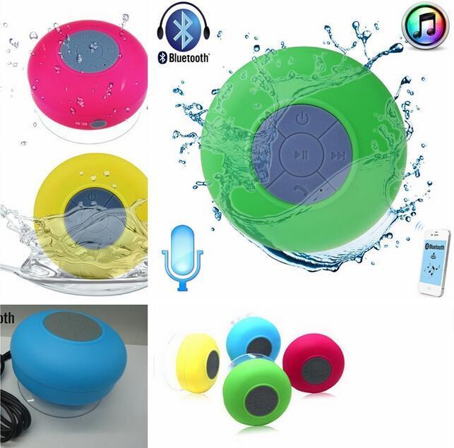 Portable Shower Waterproof Bluetooth Speaker Mini Wireless Bluetooth Handsfree Speakers for iPad iphone 7 plus 5s Samsung S8 edge DHL FEDEX