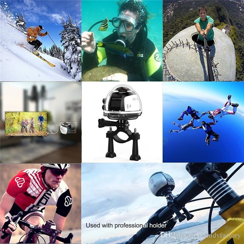 V1 4K WiFi Sport Camera Wireless 360 Degree Panoramic Camera 3D VR Action Sports Camera Wifi 16MP HD 30fps Waterproof Mini DV Camcorder