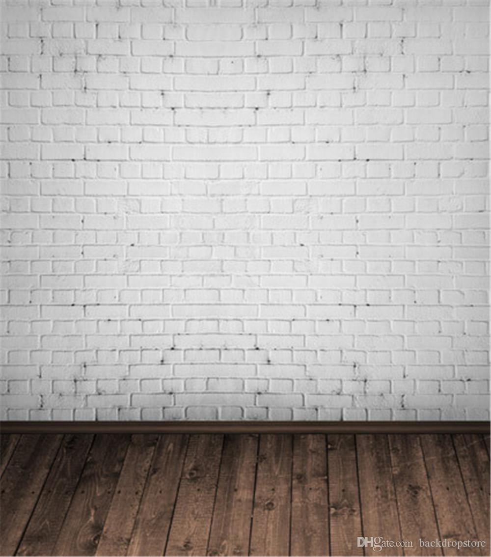 2018 White Brick Wall Photography Backdrop Vinyl Baby