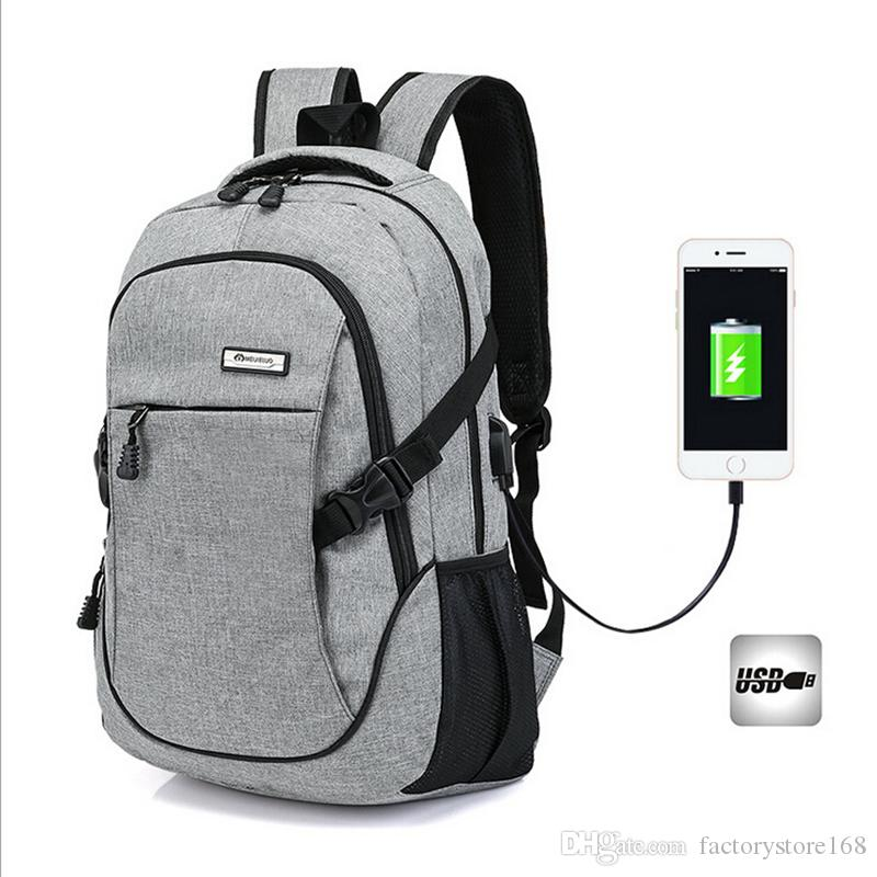 280bcdef1835 Fashion Laptop Backpack Business Lightweight Water Hiking Camping Outdoor  Rucksack School backpack with USB Charging Port