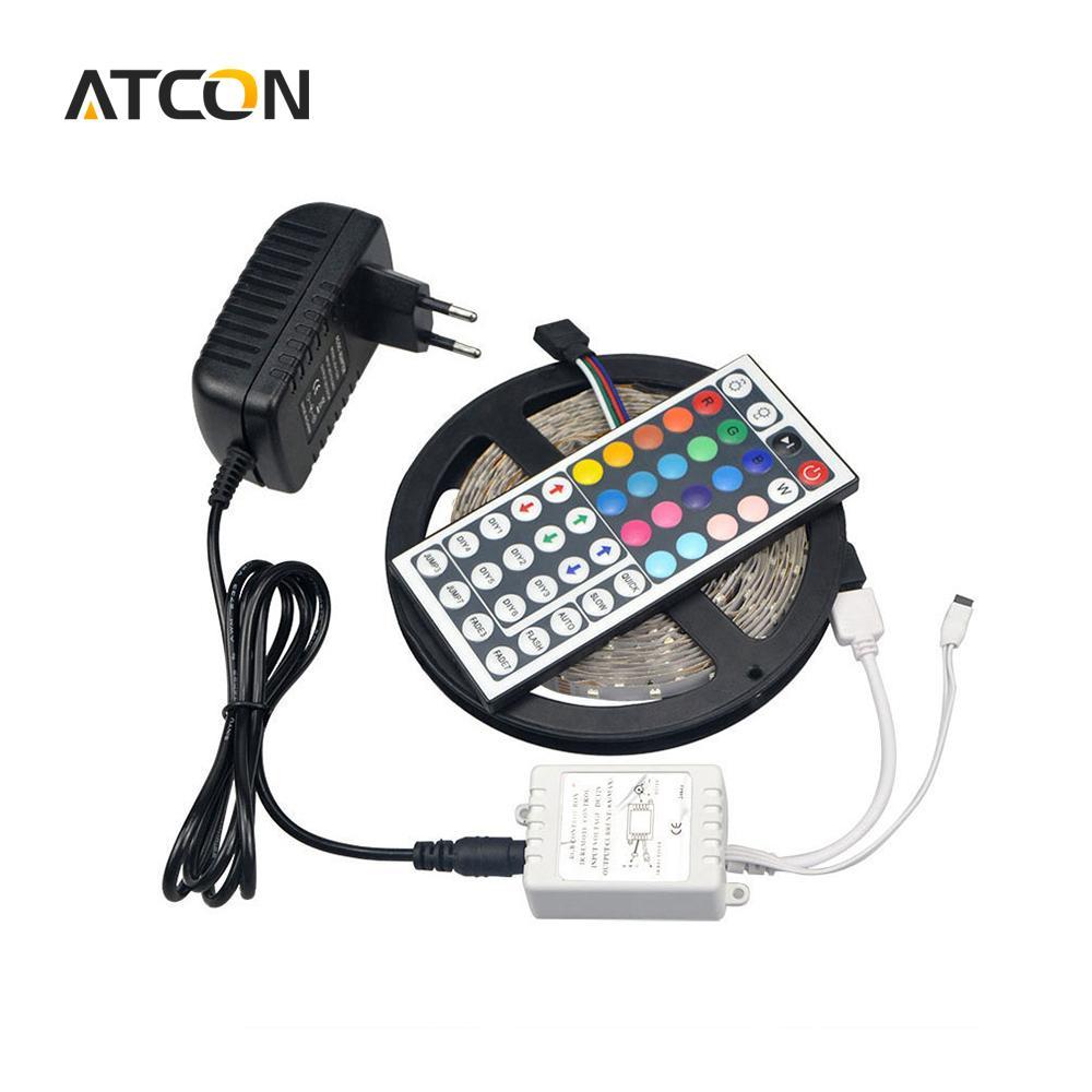 12v Secteur Pour Diy Intérieure Strip Lampe Rgb 2444 Keys De Décoration Led 1pcs 3a D'éclairage 28353528Smd Remix Light 5m Adaptateur rBodxCe