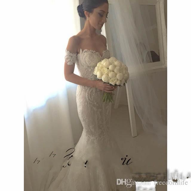 Abiti da sposa estate delicati 2017 con treno rimovibile Sweetheart Pizzo Appliques Sexy fuori dal abito da sposa a spalla