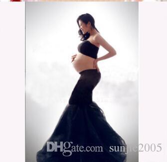 2017 robes chaudes maternité Photographie Props en mousseline de soie Robes Off épaules Maxi enceinte Robes Séance photo de grossesse