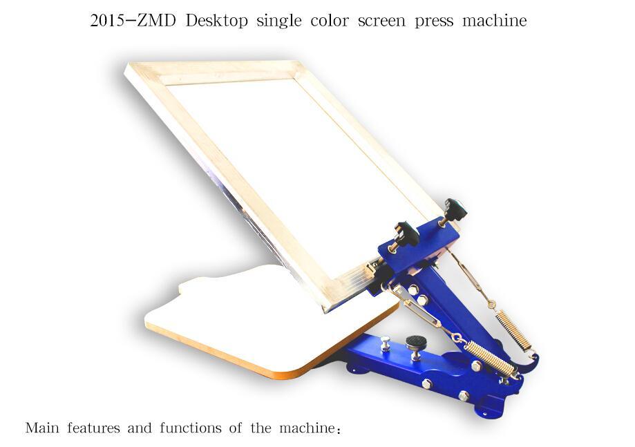 1 SCHERMO A COLORI PREMERE la macchina da serigrafia desktop manuale serigrafia a singolo colore