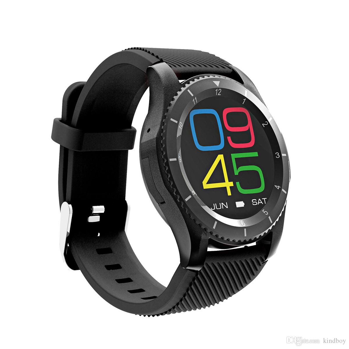 40c396df38cbe8 No.1 G8 Smart Watch Phone MTK2502 Bluetooth 4.0 SIM Card Smartwatch Call  Message Reminder Heart Rate Monitor For Android IOS Smartphone DHL  Smartwatch Moto ...