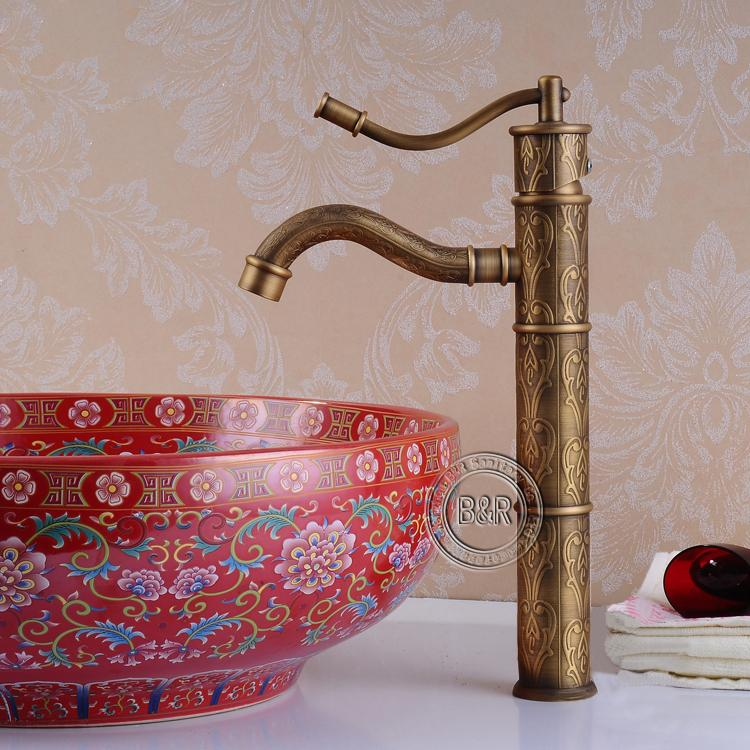 lavatory antique bridge l tub faucets bathroom copper shower set faucet
