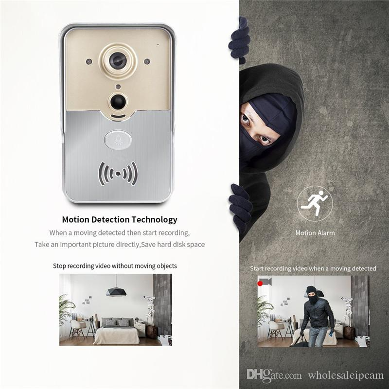 New Wi-Fi Smart Doorbell Camera PIR Sensor Tamper Alarm 720P Home Security CCTV Wireless P2P Camera For Android IOS Smart Phone & Tablet PC