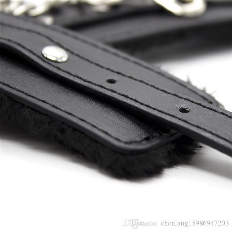 Weiches Plüsch PU-Leder Handschellen Erwachsene Cosplay SM Spiele Sex Produkte Sex Toys, Erotische BDSM Bondage Slave Sexo Werkzeuge Für Paare
