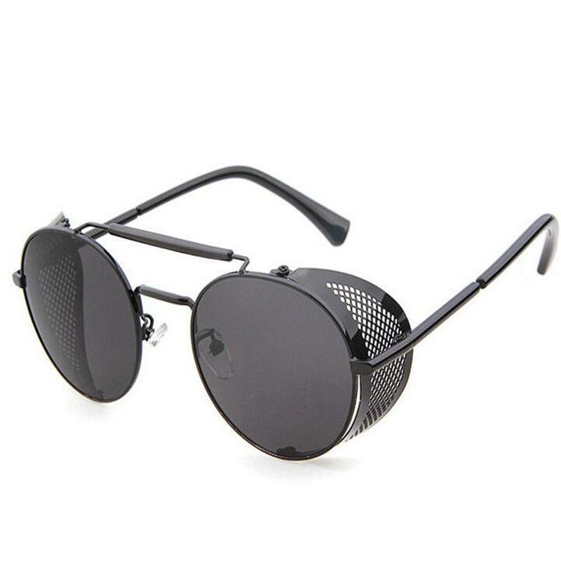 581a9ddc8 Steampunk Glasses Mens Sunglasses Designer 2017 Summer Fashion Metal Hollow Round  Sunglasses Dazzle Colour Eyewear Ladies Eye Glasses Sunglasses Brands Best  ...