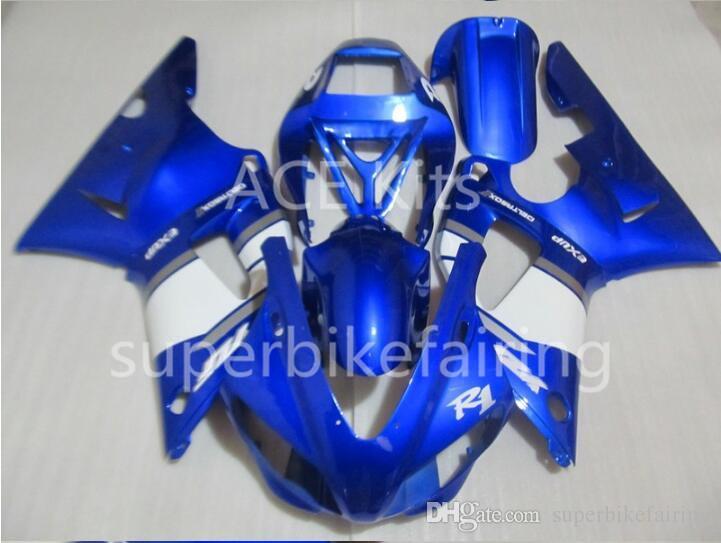 3Gifts Nueva bicicleta de ventas calientes Kits de carenado para YAMAHA YZF-R1 1998 1999 R1 98 99 YZF1000 Cool Blue White SX21