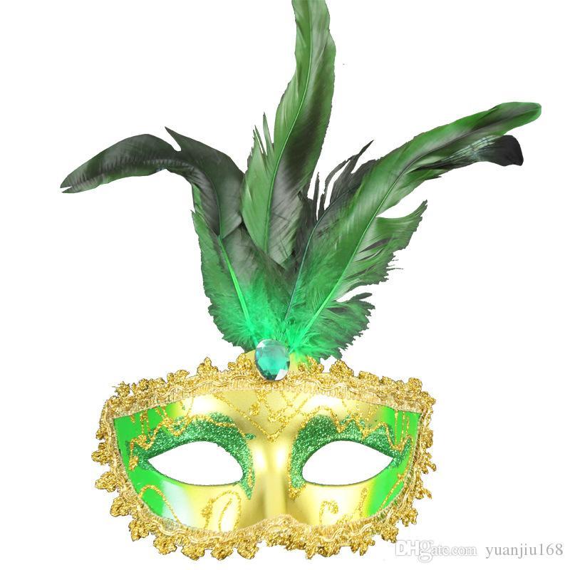 ماكياج رقص قناع لطيف ريشة الذهبي الأميرة الأميرة إلهة قناع البندقية حزب الرقص قناع