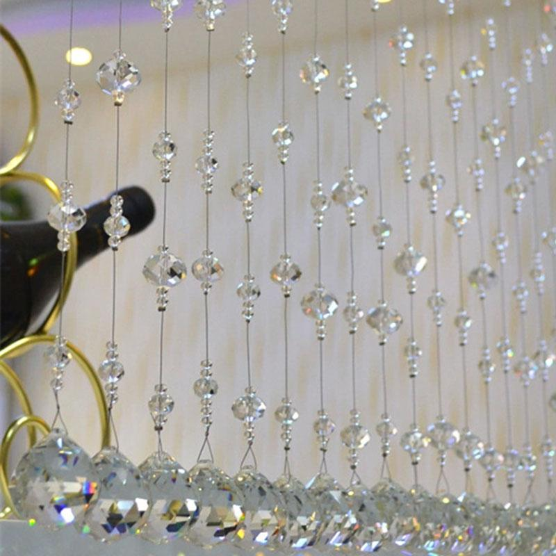 Modern Luxury Crystal Beaded Curtain Modern Living Room