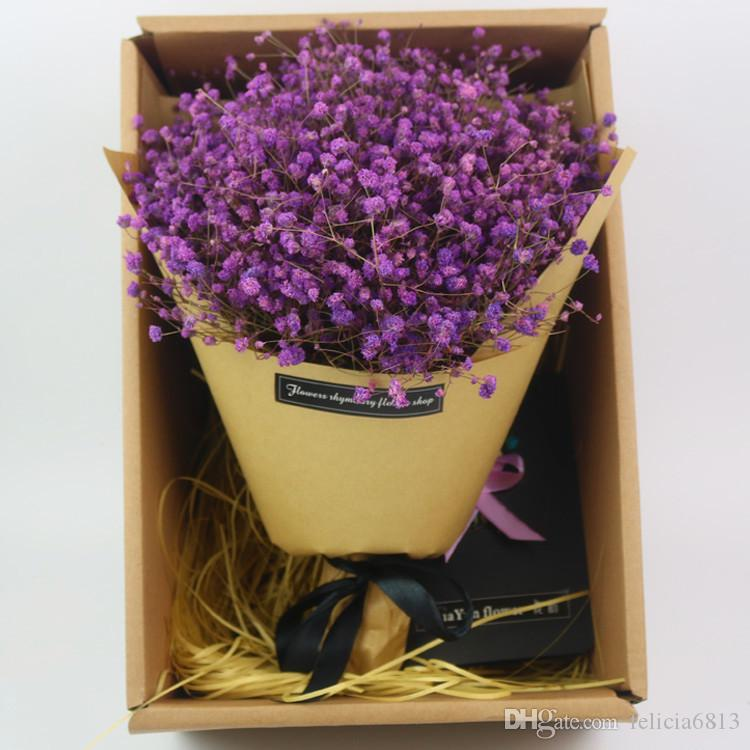2018 All Over The Sky Star Dried Flower Flower Bouquet Gift Box ...